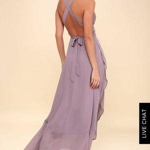 Lulu's Wrap of Luxury high-low convertible dress!